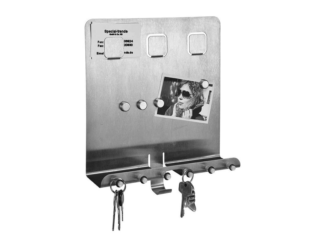 Μεταλλικός Μαγνητικός Πίνακας για Σημειώσεις Κλειδοθήκη με 6 γάντζους, 98070 - H έπιπλα   κλειδοθήκες