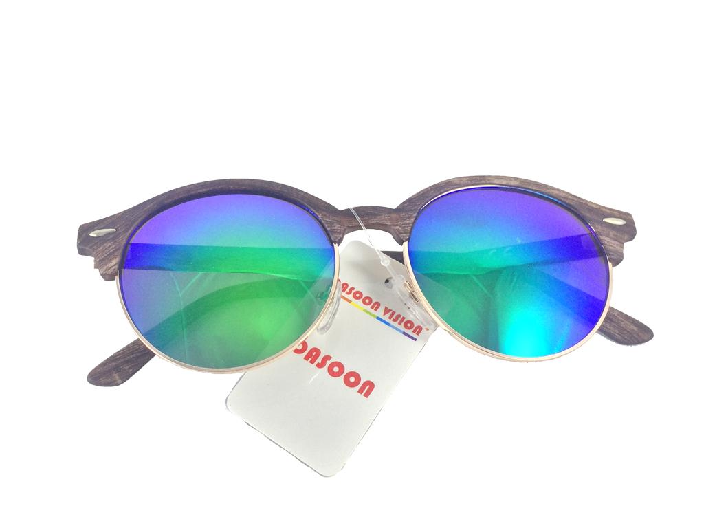 Dasoon Vision Unisex Γυαλιά Ηλίου με Σκελετό τύπου ξύλο, Πράσινος φακός καθρέφτη υγεία  και  ομορφιά   οπτικά γυαλιά