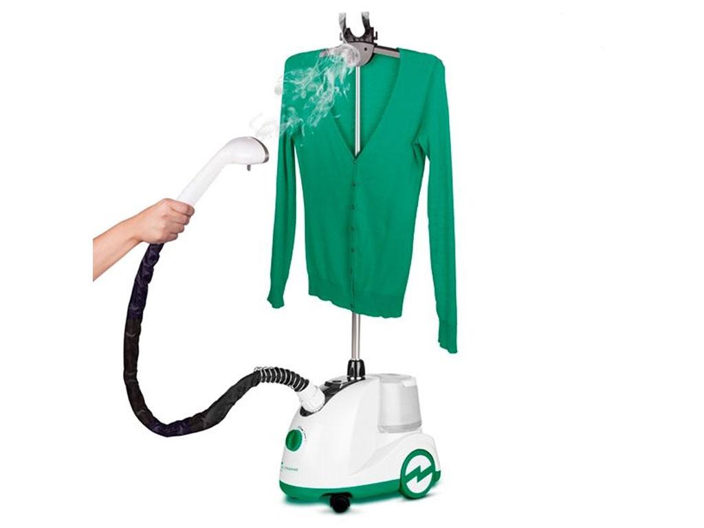 Κάθετο Σίδερο Ατμού Handy Steamer Swan 750 - 1500 W σε Λευκό/Πράσινο χρώμα, V010 καθαριότητα και σιδέρωμα   ηλεκτρικά σίδερα  σιδερώστρες και απλώστρες