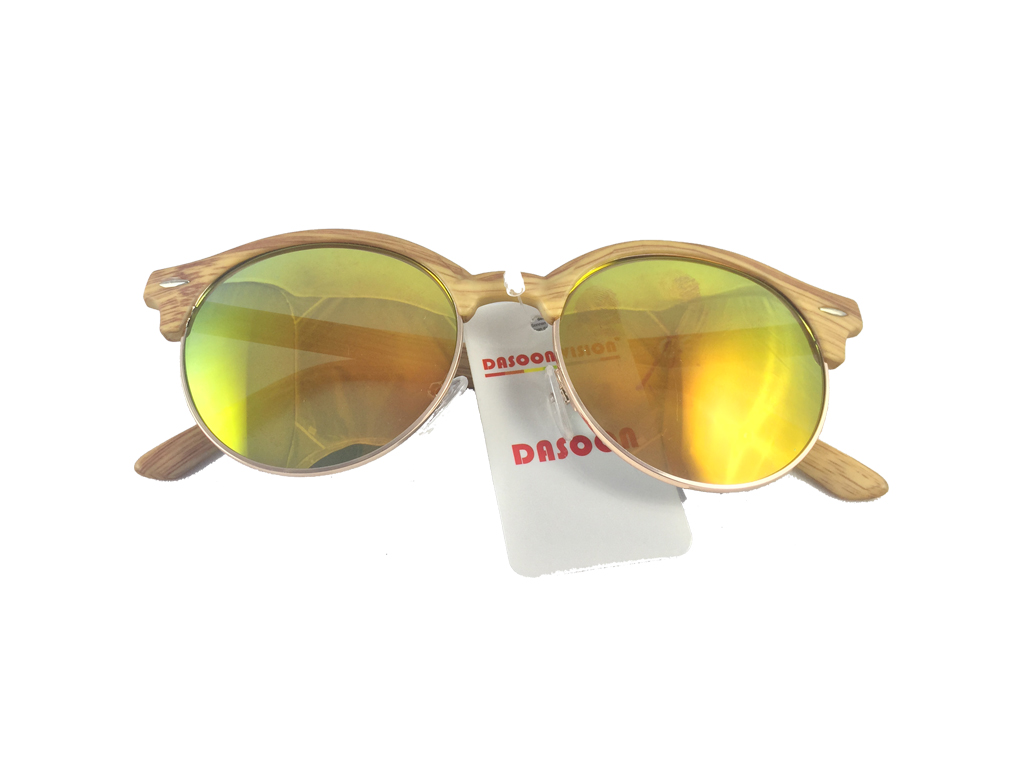Dasoon Vision Unisex Γυαλιά Ηλίου με Σκελετό τύπου ξύλο, Πορτοκαλί φακός καθρέφτ υγεία  και  ομορφιά   οπτικά γυαλιά