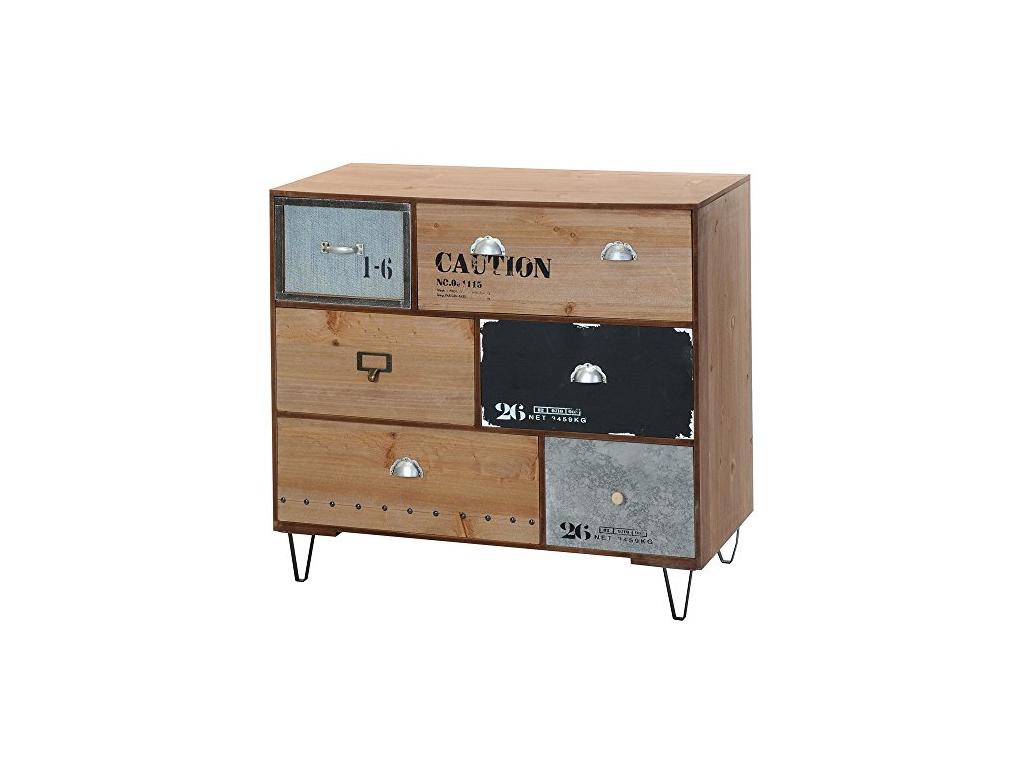 Ξύλινο Έπιπλο Γενικής Χρήσης-Ντουλάπι Vintage με 6 Συρτάρια 70x30x63cm - Cb οργάνωση σπιτιού   ντουλάπες