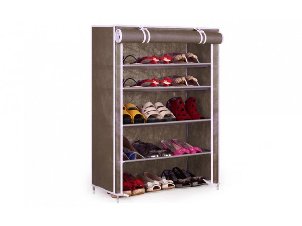 Φορητή Υφασμάτινη Ντουλάπα – Παπουτσοθήκη 90x60x30cm, Shoe Cabinet 6588 Καφέ – OEM