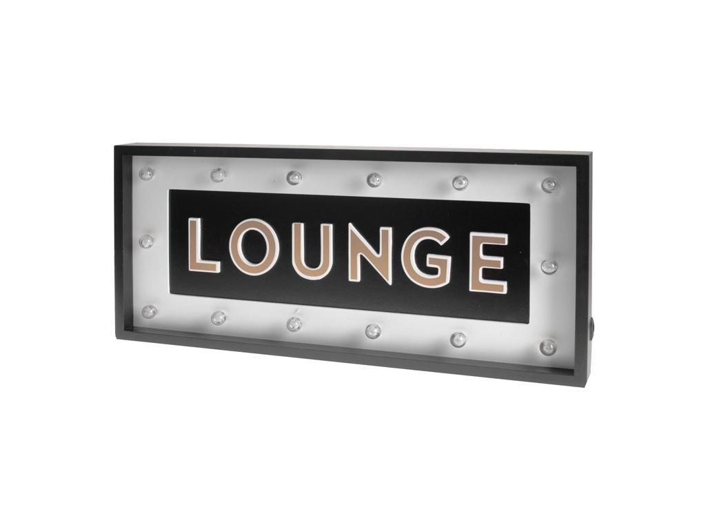 """Μοντέρνα Κρεμαστή Φωτιζόμενη Πινακίδα με LED και θέμα """"Lounge"""" 54x24x4.8cm - Cb διακόσμηση και φωτισμός   διακοσμητικά τοίχου"""