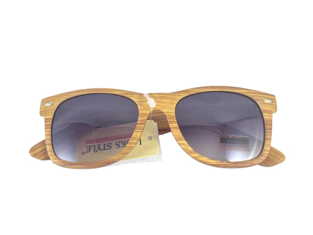 Unisex Γυαλιά Ηλίου με Σκελετό τύπου ξύλο, Μαύρος φακός διάφανος και προστασία α υγεία  και  ομορφιά   οπτικά γυαλιά