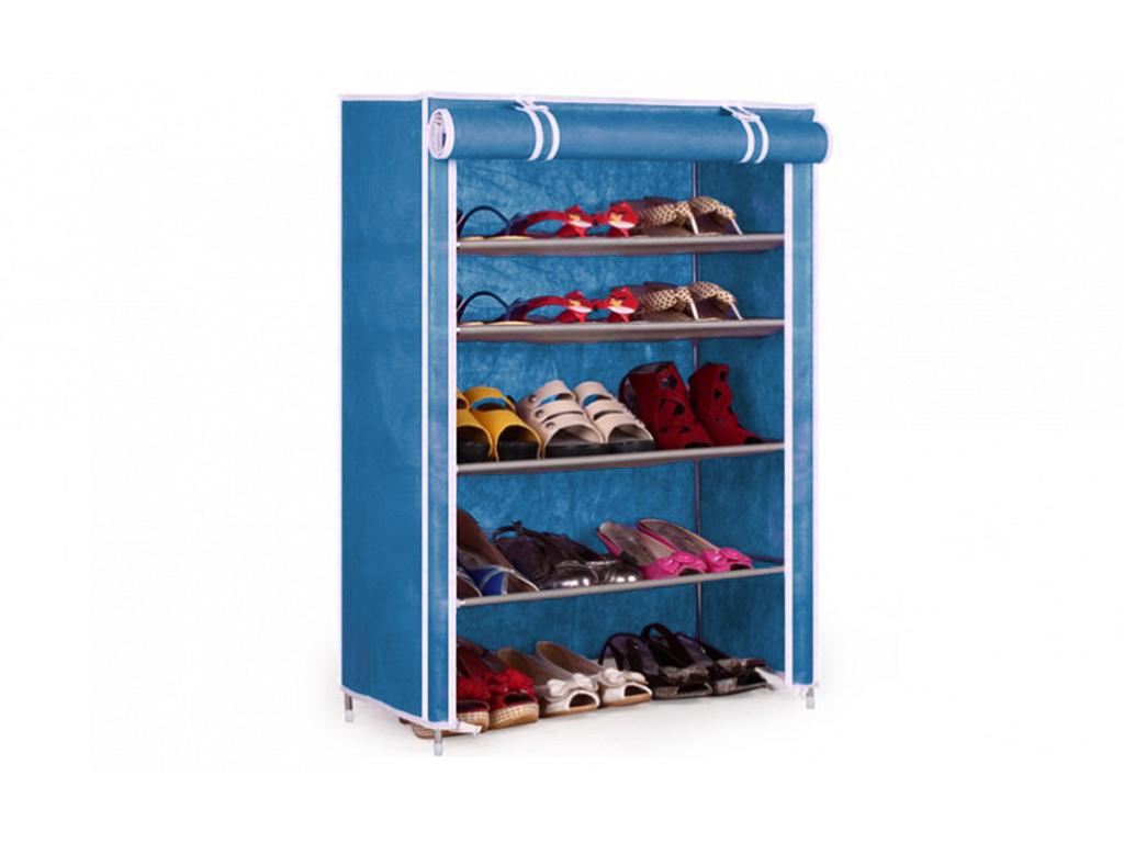 Φορητή Υφασμάτινη Ντουλάπα – Παπουτσοθήκη 90x60x30cm, Shoe Cabinet 6588 Μπλε – OEM