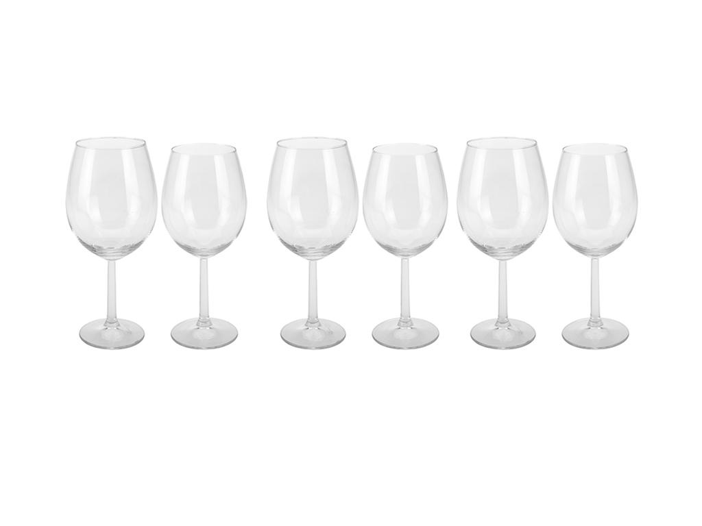 Σετ Γυάλινα Ποτήρια Κολονάτα Κρασιού 12 τεμ. 580ml & 430ml - Cb σερβίρισμα   κούπες και ποτήρια