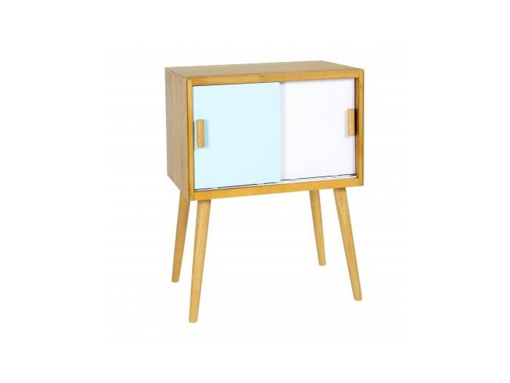 Ξύλινο Έπιπλο τραπεζάκι-Κομοδίνο Μοντέρνου στυλ 80x60x40cm σε Γαλάζιο παστέλ-Λευ οργάνωση σπιτιού   ντουλάπες