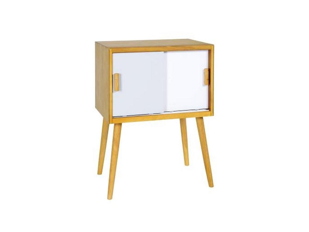 Ξύλινο Έπιπλο τραπεζάκι-Κομοδίνο Μοντέρνου στυλ 80x60x40cm σε Γκρι παστέλ-Λευκό  οργάνωση σπιτιού   ντουλάπες