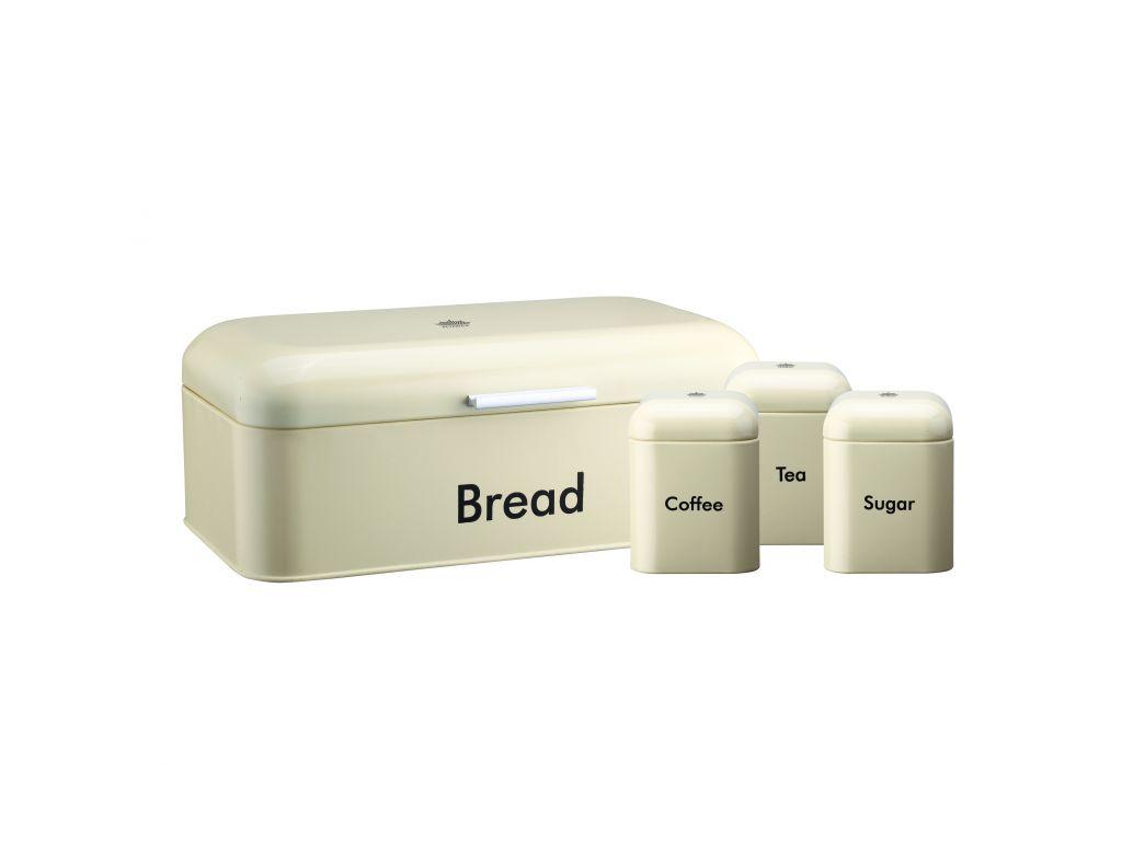 Peterhof Μεταλλική Ψωμιέρα Σετ 7 τεμ. με 3 Βαζάκια Αποθήκευσης για Τσάι, Καφέ, Ζ κουζίνα   κουτιά κουζίνας και ψωμιέρες