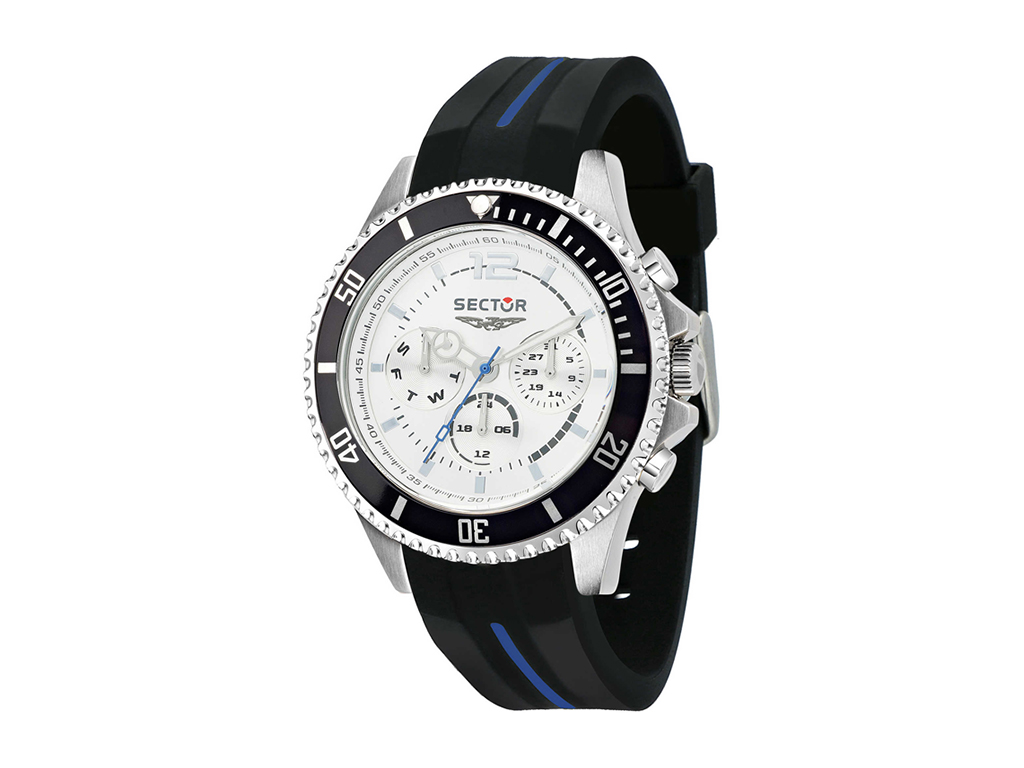 Sector R3251161031 Ανδρικό Ρολόι 230 Series watch Silver Dial Black/Blue Strap a ρολόγια χειρός   ανδρικά ρολόγια χειρός