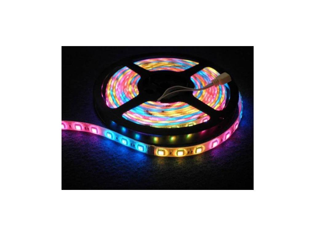 Σετ Αδιάβροχη Ταινία LED RGB 5050SMD 5 μέτρων 7,2W 300xLED 12V με τηλεχειριστήρι τεχνολογία   ταινίες led