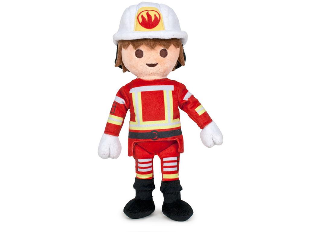 Playmobil Λούτρινο Παιχνίδι 33cm Πυροσβέστης - Playmobil για μωρά   λούτρινα παιχνίδια