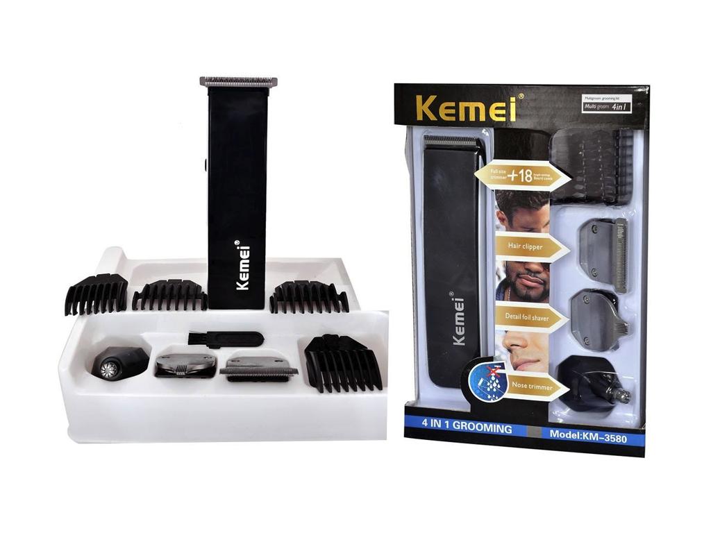 KEMEI Σετ Αντρικής Περιποίησης 4 σε 1 για Κούρεμα & Τριμάρισμα, KM-3580 - KEMEI κομμωτική   κουρευτικές και ξυριστικές μηχανές
