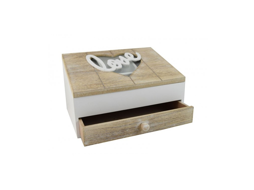Ξύλινο Κουτί Αποθήκευσης για Φακελάκια Τσαγιού 24x17x14,5cm με 4 Τμήματα, 1 Συρτ κουζίνα   κουτιά κουζίνας και ψωμιέρες