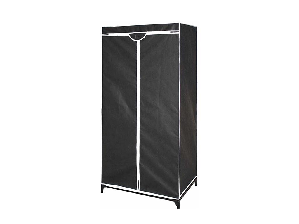 Ντουλάπα Υφασμάτινη 70x45x160cm σε Μαύρο χρώμα με Φερμουάρ, 80960 - Cb οργάνωση σπιτιού   ντουλάπες