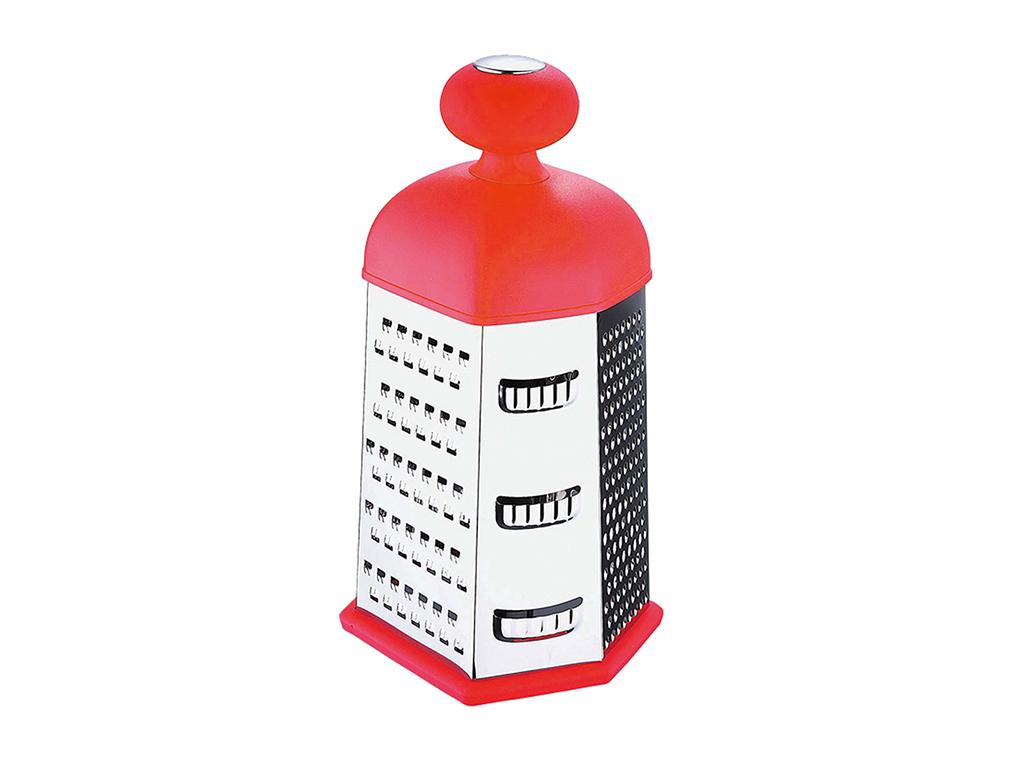 Blaumann Εξάγωνος Ανοξείδωτος Τρίφτης με Εργονομική λαβή, BL-3273A Χρώμα Κόκκινο αξεσουάρ και εργαλεία κουζίνας   τρίφτες  κόφτες και αποφλοιωτές