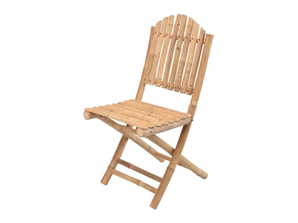 Ξύλινη Καρέκλα Πτυσσόμενη από Μπαμπού (Bamboo) με Ψηλή πλάτη 43x37x90cm - Cb έπιπλα   τραπέζια και καρέκλες