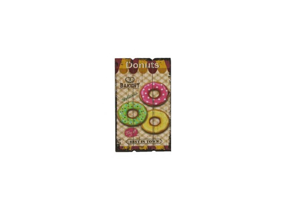 """Ξύλινη Διακοσμητική Πινακίδα με Θέμα """"Donuts"""" 30x1.8x60cm, 77045 - Cb διακόσμηση και φωτισμός   φωτογραφίες και αφίσες"""