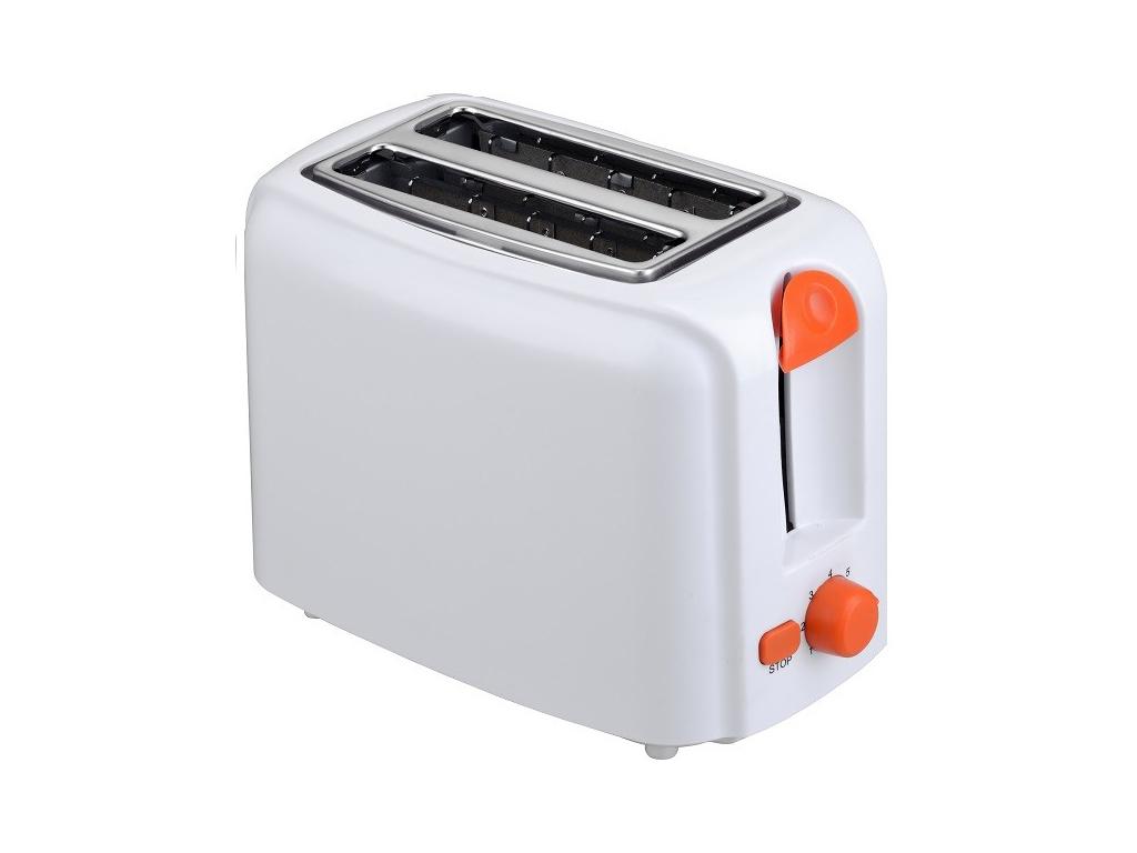 Muhler Φρυγανιέρα 760W με 2 θέσεις ψησίματος σε Λευκό χρώμα και Πορτοκαλί λεπτομ μικροσυσκευές   φρυγανιέρες