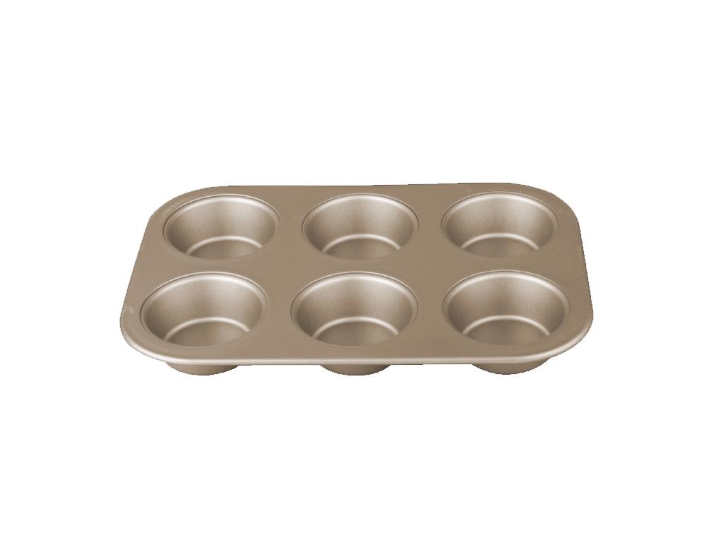 Berlinger Haus Φόρμα ψησίματος 6 θέσεων για Muffins με Τριπλή Αντικολλητική Επίστρωση σε RoseGold χρώμα, My bronze pastry cook, BH-1429 - Berlinger Haus