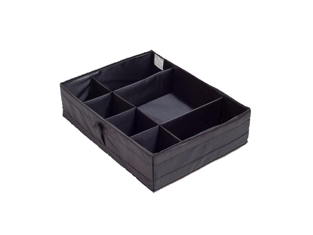 Jocca Βάση Συρταριού Διοργανωτής Αξεσουάρ 7 διαμερισμάτων 44x34x11cm σε Μαύρο χρ έπιπλα   μπαούλα και κουτιά αποθήκευσης