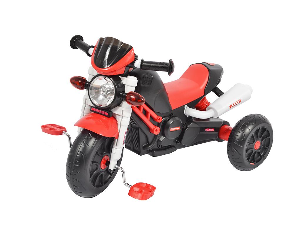 Παιδική Τρίκυκλη Μηχανή-Ποδήλατο με Πετάλια σε Κόκκινο/Μαύρο χρώμα - OEM παιχνίδια  παιδί  και  βρέφος   ποδηλατάκια   πατίνια