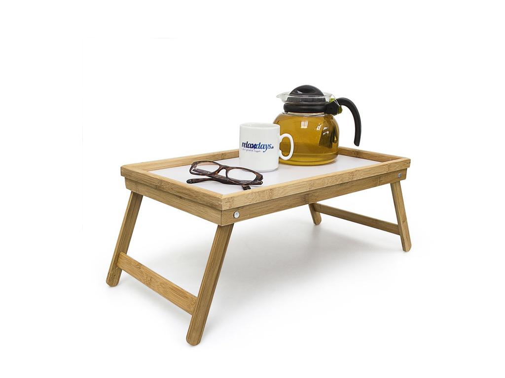Bamboo Πτυσσόμενο Τραπεζάκι για πρωινό στο κρεβάτι από Μπαμπού 22x50x30cm σε Λευ σερβίρισμα   δίσκοι  πιατέλες και ορντεβιέρες