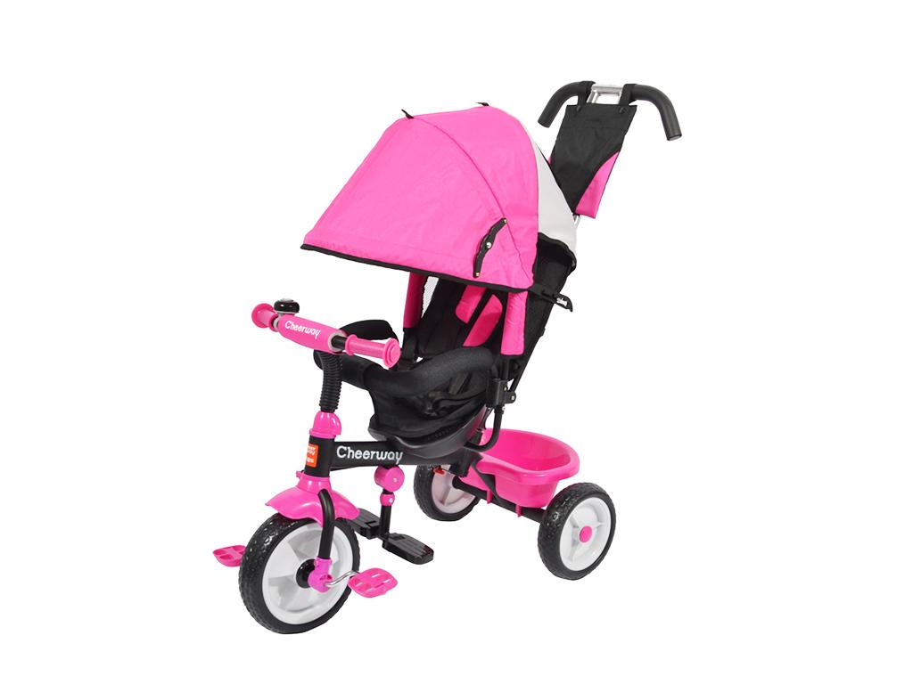 Παιδικό Τρίκυκλο Ποδήλατο με Τέντα για τον Ήλιο και Πετάλια Ροζ - OEM παιχνίδια  παιδί  και  βρέφος   ποδηλατάκια   πατίνια