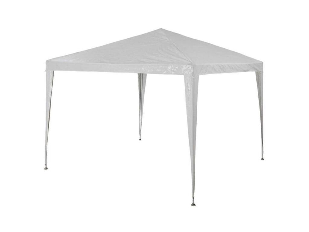 Κιόσκι Τέντα Partytent gazebo με Μεταλλικό σκελετό Τετράγωνο Αδιάβροχο 3x3x2.5 m σε Λευκό Χρώμα, 89741 - Partytent