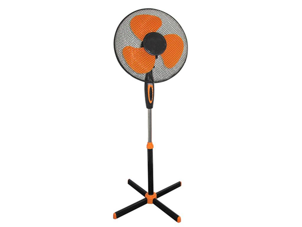 Ανεμιστήρας Δαπέδου Ορθοστάτης 45W με 3 Ταχύτητες σε Μαύρο/Πορτοκαλί χρώμα, FM-5 είδη θέρμανσης ψύξης   ανεμιστήρες