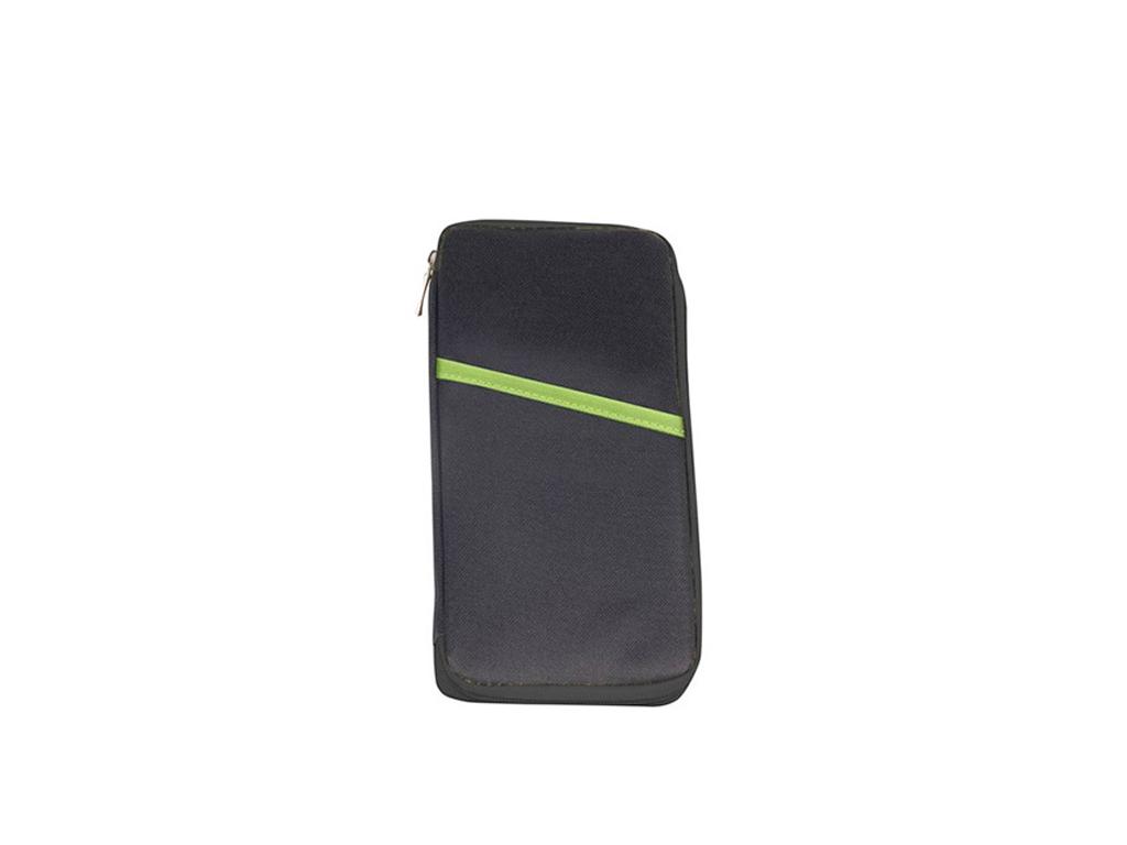 Jocca Τσάντα Εγγράφων σε Μέγεθος Ταξιδιού 25x13x1.5cm με Πολλές θήκες για Διαβατήρια και Κάρτες σε Μαύρο χρώμα, 7010 - JOCCA home & life