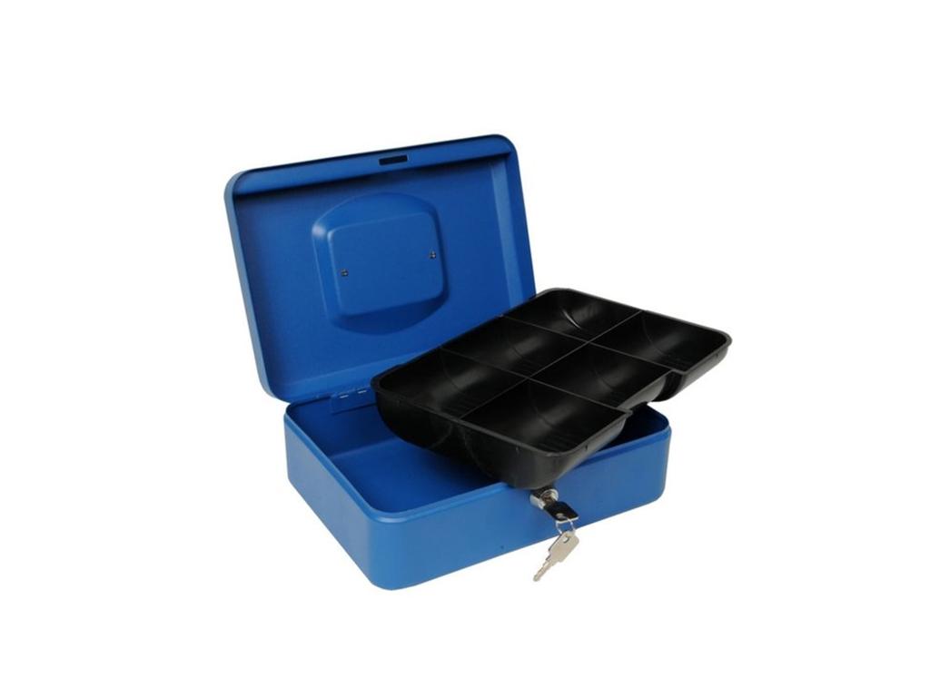 Μεταλλικό Κουτί Ταμείου με Κλειδαριά 25x18x9cm με εργονομική λαβή και 6 διαμερίσ horeca   επαγγελματικά