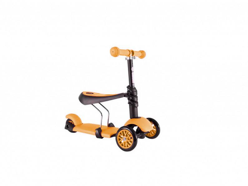 Πρωτοποριακό Παιδικό Πατίνι 3 σε 1 με 3 Τροχούς LED Glider Scooter Πορτοκαλί - O παιχνίδια  παιδί  και  βρέφος   ποδηλατάκια   πατίνια