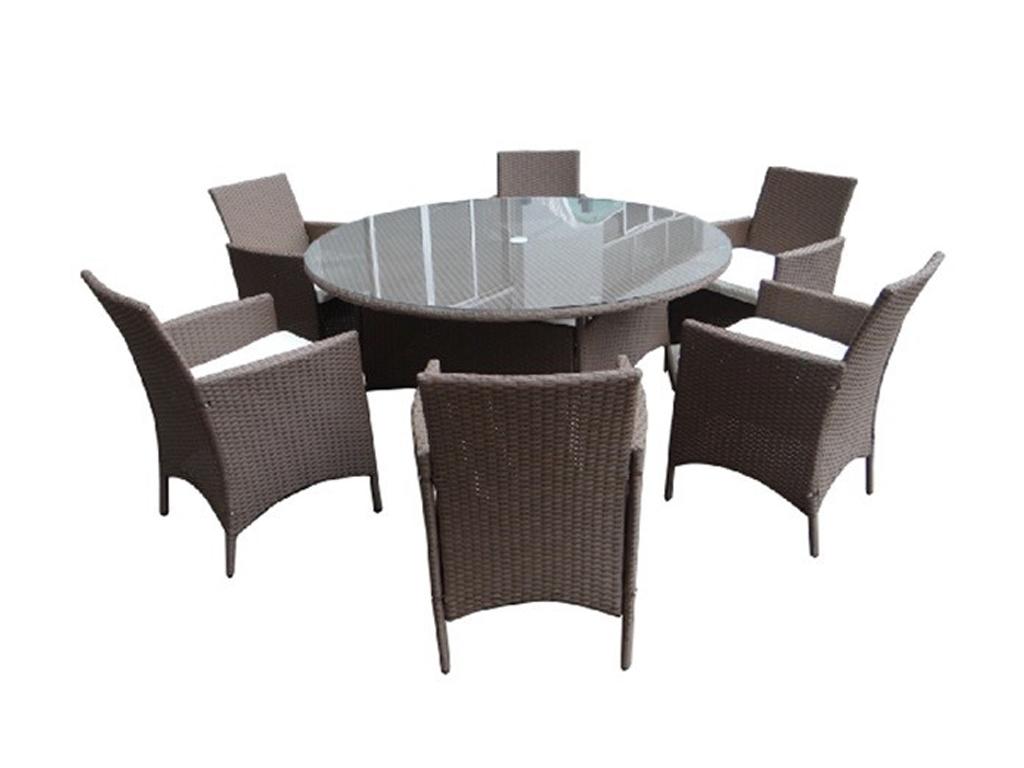 Σετ στρογγυλή Τραπεζαρία 150cm x 71cm εξωτερικού εσωτερικού χώρου τύπου ροτόντα  έπιπλα   τραπέζια και καρέκλες
