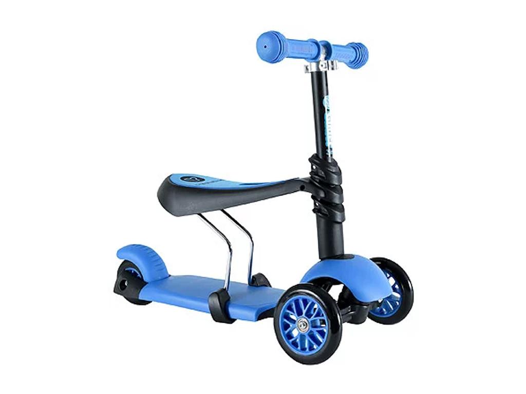 Πρωτοποριακό Παιδικό Πατίνι 3 σε 1 με 3 Τροχούς LED Glider Scooter Μπλε - OEM παιχνίδια  παιδί  και  βρέφος   ποδηλατάκια   πατίνια