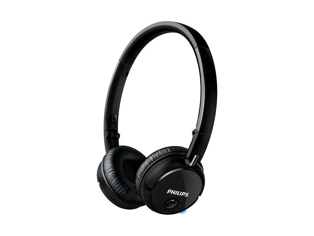 Philips Ασύρματα Bluetooth Ακουστικά On-Ear 50mW με Τεχνολογία NFC σε Μαύρο χρώμ τεχνολογία   ακουστικά