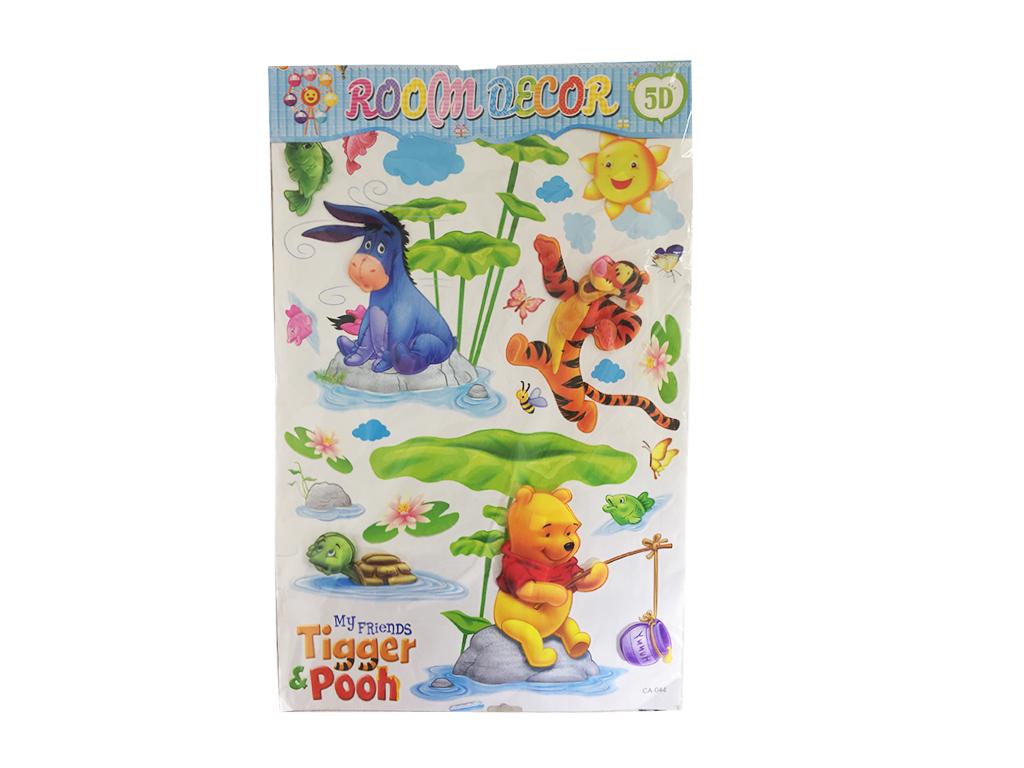 Σετ Παιδικά Διακοσμητικά Αυτοκόλλητα Σπιτιού με 5D Look Wall Stickers και θέμα W διακόσμηση και φωτισμός   πινακίδες  καμβάδες και αφίσες