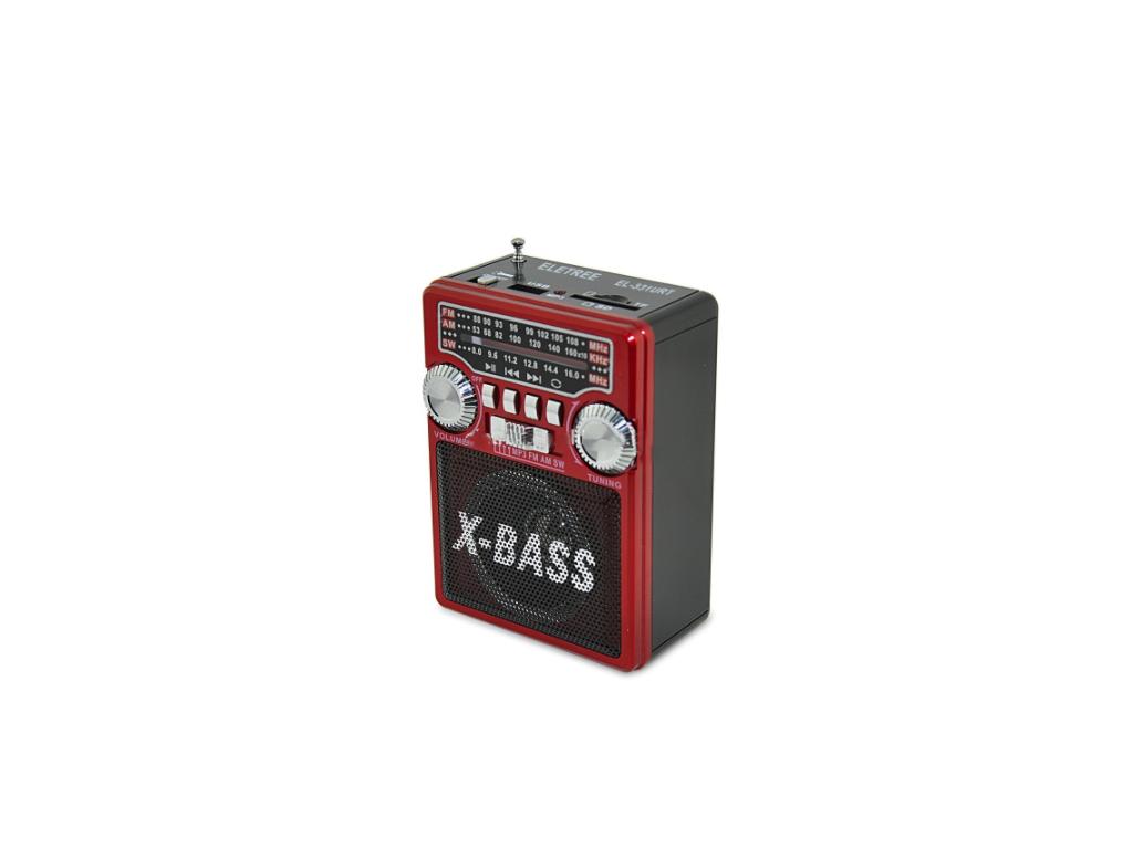 Φορητό Επαναφορτιζόμενο Ηχείο με Ραδιόφωνο AM/FM, SD/USB/TF/MP3/AUX με LCD Οθόνη ήχος   bluetooth και μικρά ηχεία