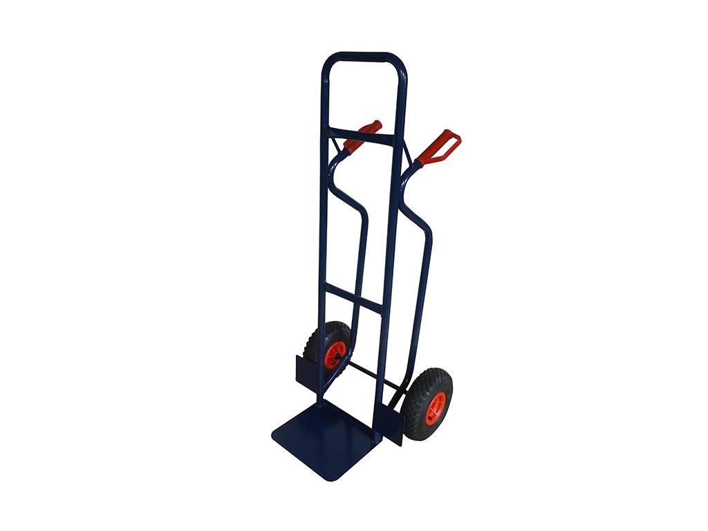 Επαγγελματικό Καρότσι μεταφοράς από Ατσάλι 120x52x50cm για Βάρος 150Kg με ρόδες σε Μπλε χρώμα - HT