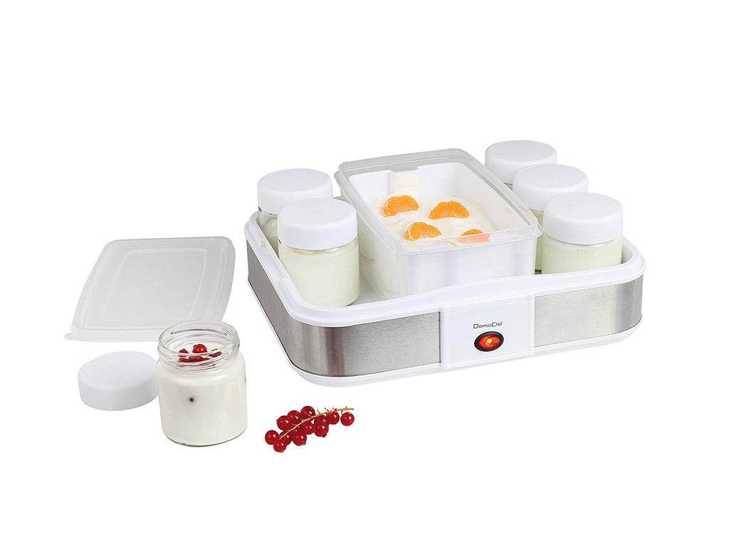 Domoclip Συσκευή Παρασκευής Γιαουρτιού Γιαουρτομηχανή 21W με 7 βαζάκι των 210ml  για την κουζίνα   μικροσυσκευές