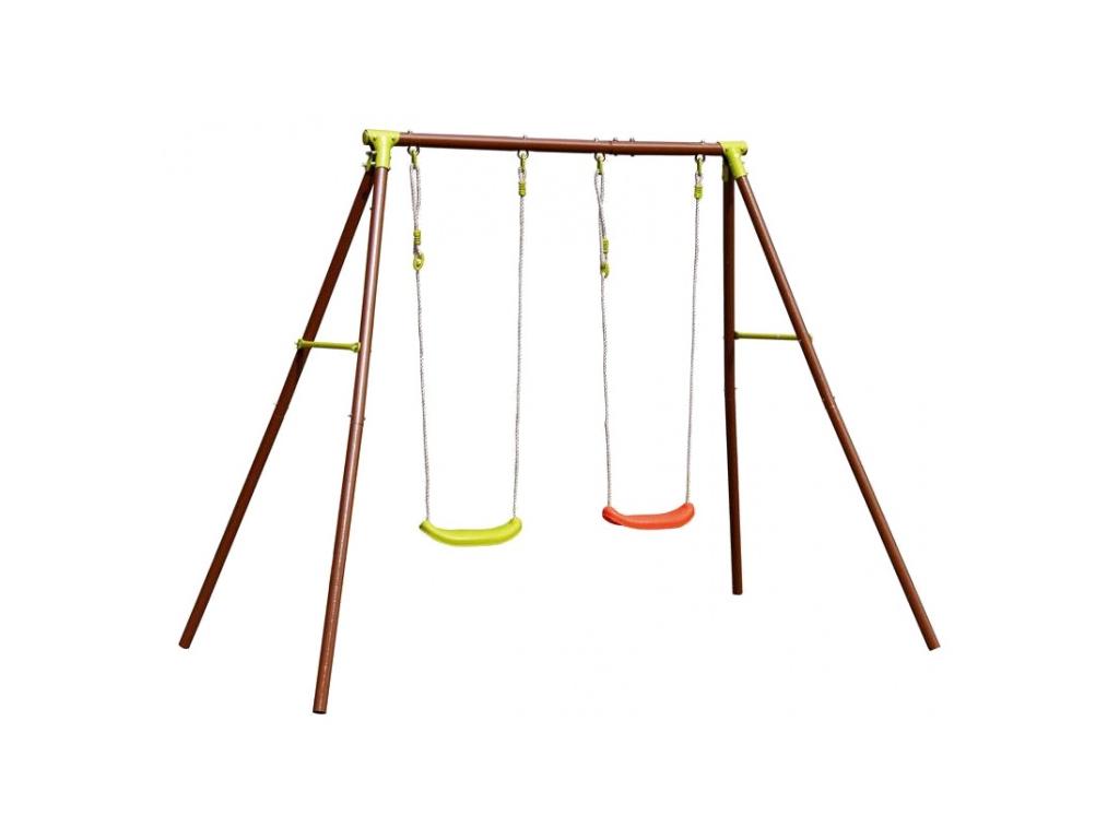 Eddy Toys Σετ Κούνιες Παιδικής Χαράς με 2 Καθίσματα 220x155x195cm με Σκελετό από παιχνίδια   παιχνιδια για εξωτερικούς χώρους