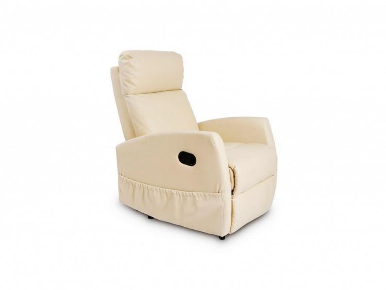 Πολυθρόνα Relax 6021 για μασάζ, V1700123 Χρώμα Μπεζ - Craftenwood έπιπλα   καναπέδες και πολυθρόνες