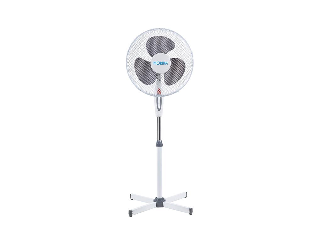 Ανεμιστήρας Δαπέδου Ορθοστάτης 45W 40cm διαμέτρου με 3 Ταχύτητες σε Γκρι-Λευκό χ θέρμανση και κλιματισμός   ψύξη