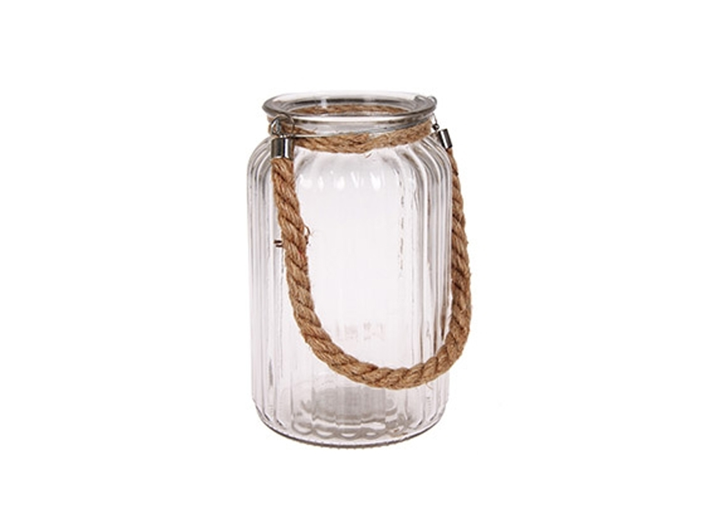 Γυάλινο Κρεμαστό Φαναράκι Βάζο για Κερί 11.5x18.5cm Εσωτερικού και Εξωτερικού χώ διακόσμηση και φωτισμός   κεριά και κηροπήγια