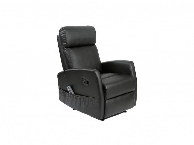 Πολυθρόνα Relax 6021 για μασάζ, V1700123 Χρώμα Μαύρο - Craftenwood έπιπλα   καναπέδες και πολυθρόνες