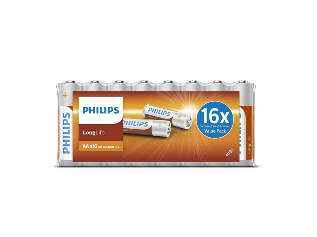 Philips Αλκαλικές Μπαταρίες 16 τεμ. ΑΑ, R6L16F/00 - Philips τεχνολογία   μπαταρίες
