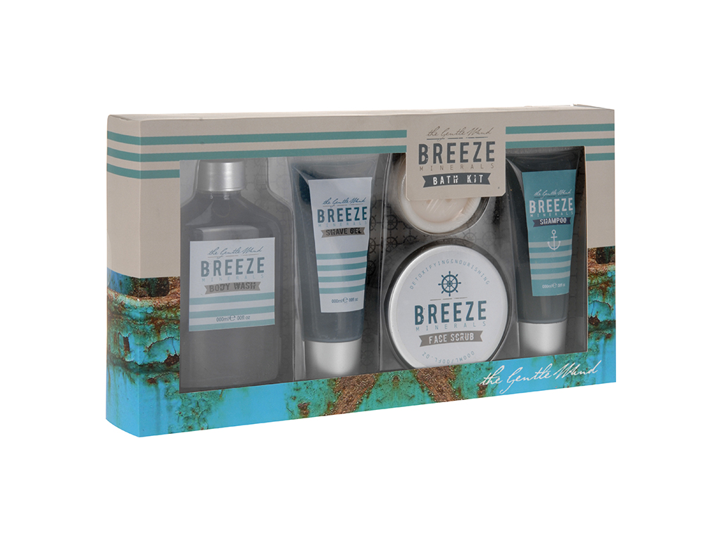 Breeze Ανδρικό Σετ Μπάνιου 5 τεμ. με είδη Περιποίησης Σώματος και Προσώπου σε Συ εκδηλώσεις και γιορτές   είδη δώρου
