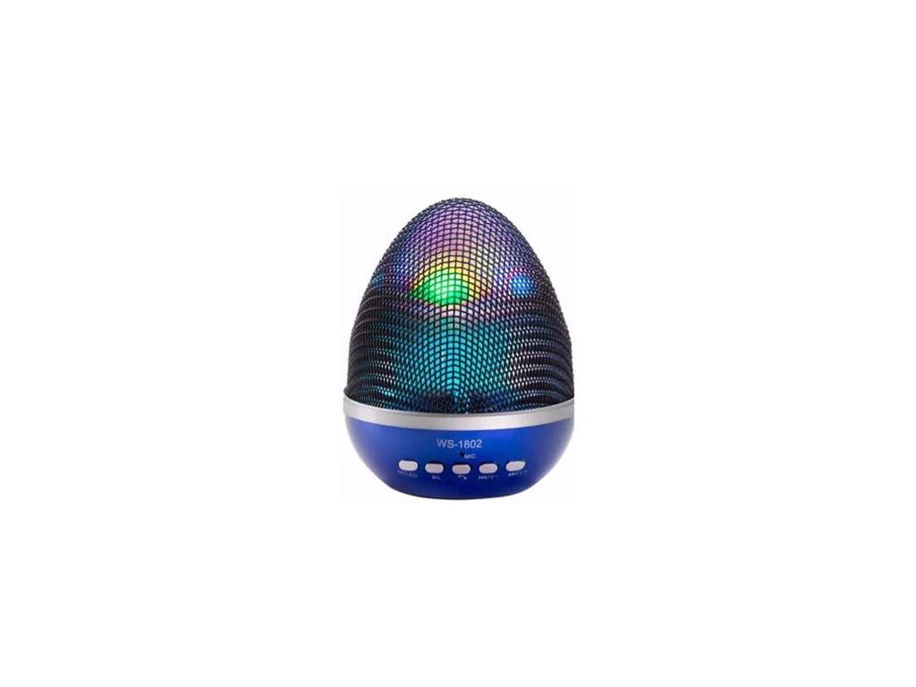 Bluetooth Ηχείο multimedia 3W με εναλλαγή χρωμάτων, WS-1802 Χρώμα Μπλε - OEM εκδηλώσεις και γιορτές   είδη πάρτυ