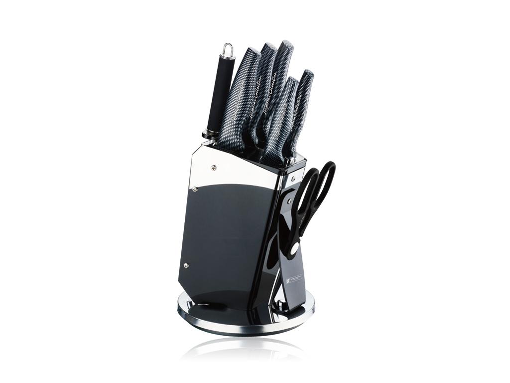 Imperial Collection Σετ Αντικολλητικά Αντιβακτηριδιακά Μαχαίρια συν Ψαλίδι Κουζί αξεσουάρ και εργαλεία κουζίνας   μαχαίρια κουζίνας