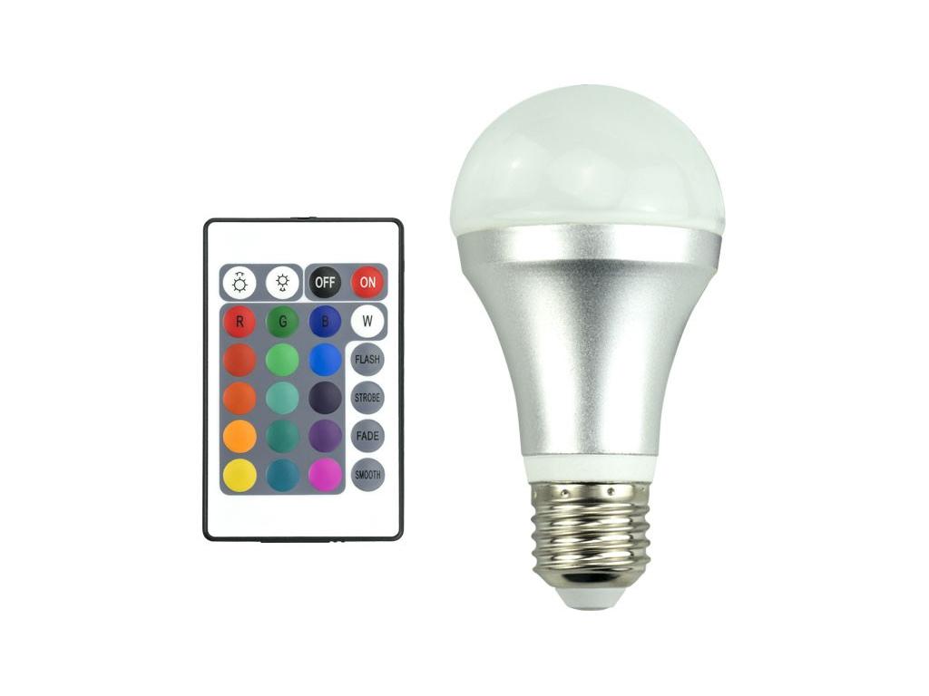 Λάμπα RGB 3528 LED E27 4W με 16 επιλογές χρωμάτων, για Εξοικονόμηση Ενέργειας κα διακόσμηση και φωτισμός   led φωτισμός